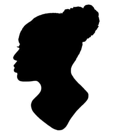 silhouette of Charity Castle, an enslaved woman who was given to Harriet Chew (1775-1861)